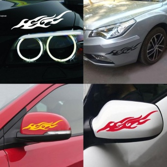 Universal Flame Car Vinyl Sticker Decal Cover Accessoires for Motorcycle/ Laptop - intl