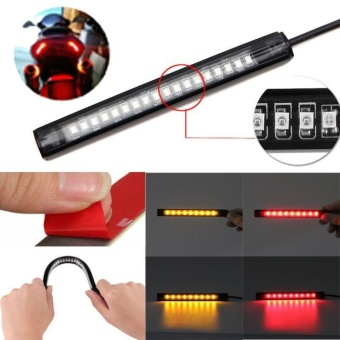 Universal Flexible 18 LED Motorcycle ATV Tail Brake Stop TurnSignal Strip Light - intl Price Philippines