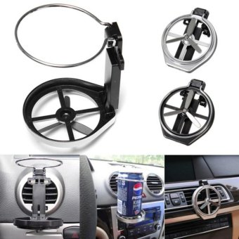 Universal Folding Drink Bottle Cup Holder Stand for Car VehicleSilver - intl