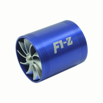 Universal Fuel Gas Saver Air Filter Intake Single / DoubleSupercharger Turbine Turbo Fan - intl