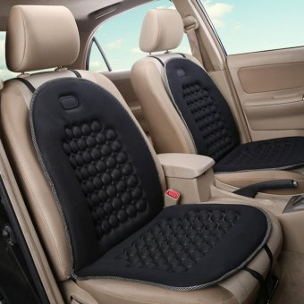 Universal Seat Cushion Massage Therapy Beads Car Seat Cover for Auto Car Office Chairs Black - intl