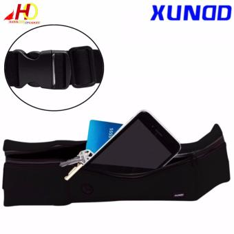 Universal XUNDD Running Jogging Gym Waterproof Waist Sports Bag Pocket Case Band (Black)