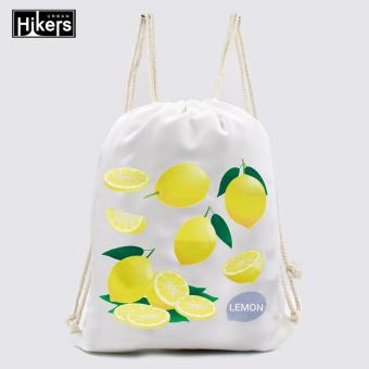Urban Hikers Canvas Drawstring Backpack (Lemon) Price Philippines