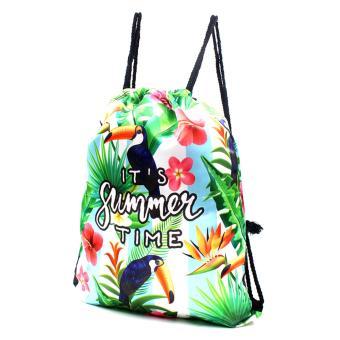 Urban Hikers Waterproof Summer Travel Drawstring Backpack (SummerTime) - 2