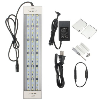 US Plug A301 18W 30cm 54smd fish tank light 2800lm LED aquatic light Pure White Aquatic Aquarium 5730 LED Light Lamp Chihiros A-Series - intl