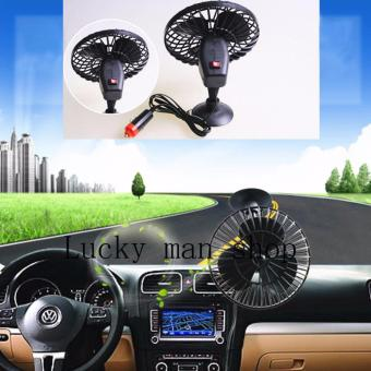 USA TOP ONE lazada and USA best selling Mini Air Fan Car VehicleCooling Suction Cup Adsorption Black