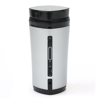 USB Heater Self Stirring Auto Mixing Cup Mug Warmer Lid (White)