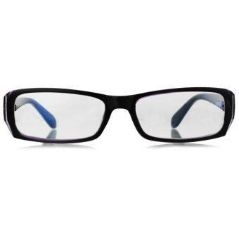 UV400 Computer Radiation Protection Anti-Blue-Light Glasses Spectacles - Black + Clear Blue - intl - 2