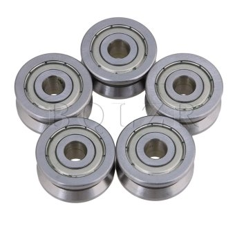 V Groove Sealed Guide Pulley Rail Ball Bearing Set of 5 - intl