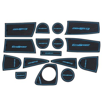 V SHOW 16Pcs Auto Car Accessories Interior Door Rubber Non-Slip Cup Matholder Gate Slot Pad For Ford Ecosport - intl