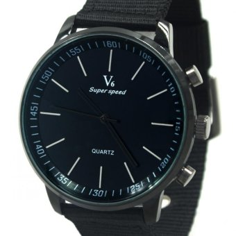V6 Michael Leather Strap Watch V0276 (Black) - picture 2