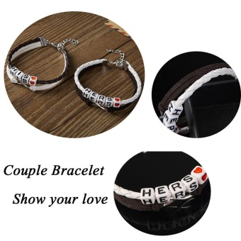 Valentine's Day Gift Couples Bracelets His and Hers Charm Bracelet - intl - 3