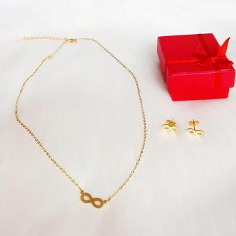 Valentino Collection Infinity necklace w/ earrings Price Philippines