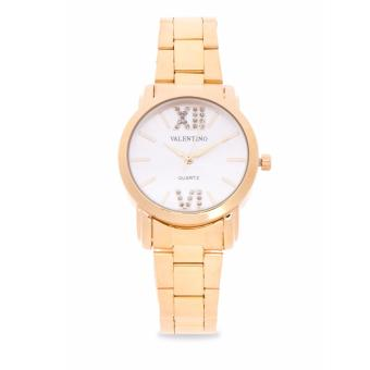 Valentino Gold Stainless Band Women'S Watch 20121941-Silver Dial