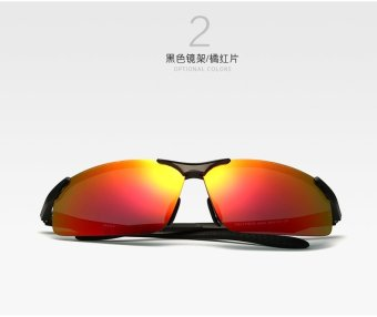 VEITHDIA Aluminum Magnesium Polarized Sunglasses Men Sports Sun glasses Night Driving Mirror Male Eyewear Accessories Goggle Oculos 6502 - intl - 2