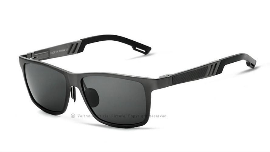 VEITHDIA Herren Sonnenbrille, Blau, 6560