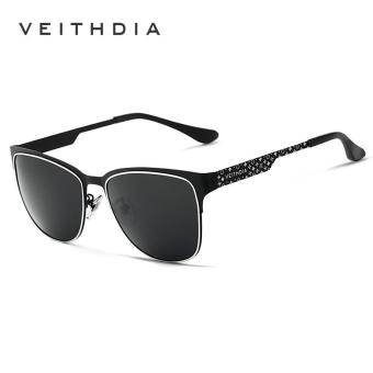 VEITHDIA Stainless Steel Sun Glasses Polarized Blue Coating Mirror Driving Men's Sunglasses Male Eyewear For Men/Women 3580