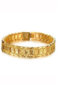Velishy Men's Bracelet Watch Chain Plated 18K Gold Gold - picture 2