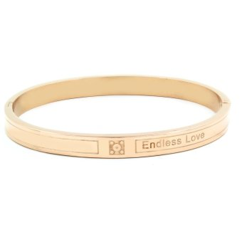 Venice Endless Love Rose Gold Clip Bangle