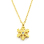Venice Jewelry Gold Snowflakes Necklace and Earrings Jewelry Set (18k Gold Plated)