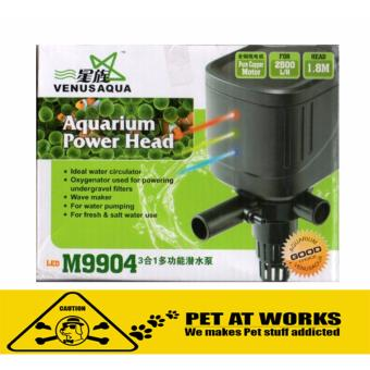 Venus Aqua LED M9904 18w (2500L/H) with LED Light 3in1 SubmersibleWater Pump for Fish Tank Aquarium, Planted Tank and Marine Tank