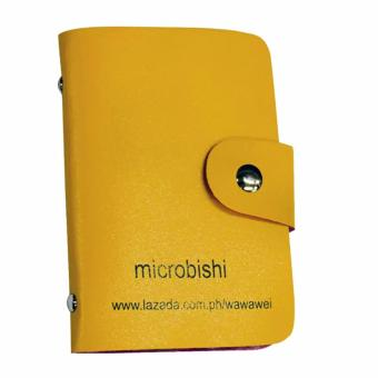 verygood- Microbishi Wallet Holder Pocket Business ID Credit CardCase Colorful Purse Coin bag Pouch (Yellow) - 2