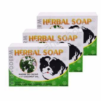Vetnoderm Herbal Soap - Madre de Cacao with Coconut Oil - 145g Setof 3