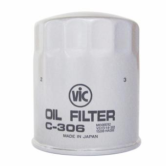 VIC Oil Filter C-306 for Mitsubishi Montero Sport 2.5 4x2 / 4x4,Pajero 2.5, Strada 2.5 4x2 / 4x4, Adventure 2.5 D, L200 2.5 D, L3002.5 D & Space Gear 2.5 D