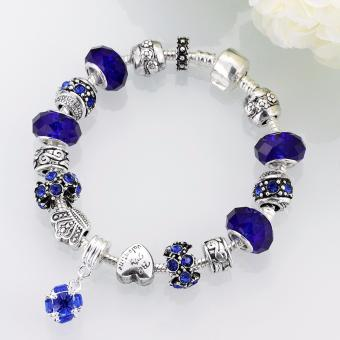 Victoria Jewelry Charm Beaded Bracelet(Blue/Silver) - 5