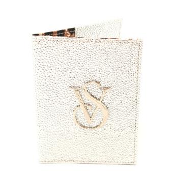 Victoria's Secret Passport Holder (Metallic Silver)