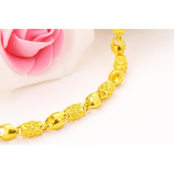 Vietnam 24k gold plated Charm Bracelet women jewelry wholesale brass plated 24K gold with bell Ladies bracelet anklet - intl - 2