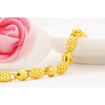 Vietnam 24k gold plated Charm Bracelet women jewelry wholesale brass plated 24K gold with bell Ladies bracelet anklet - intl - 4