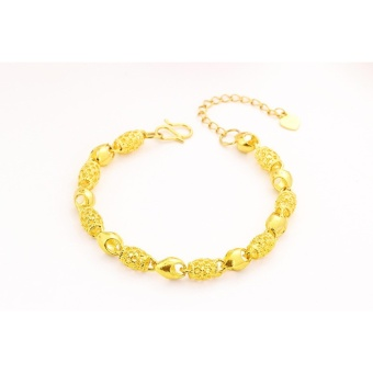 Vietnam 24k gold plated Charm Bracelet women jewelry wholesale brass plated 24K gold with bell Ladies bracelet anklet - intl - 5