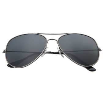 Vintage Retro Aviator Mirror Lens Sunglasses Black