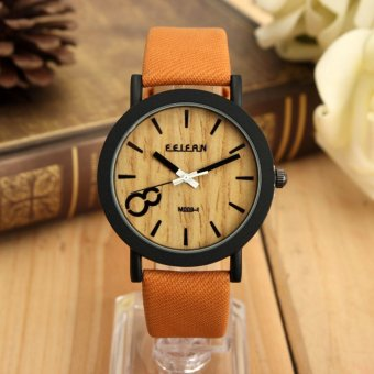 Vintage Wooden Dial Casual brown Leather Quartz Wrist watch Price Philippines