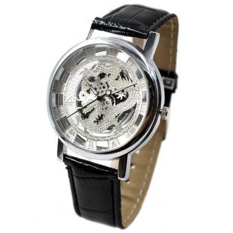 Viser Silver Dragon Black Leather Strap Watch 1566 Price Philippines