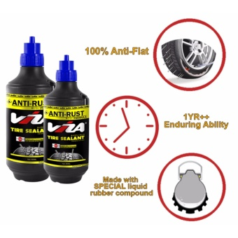 VIZA(R) Premium Tire Tyre Sealant (350ML) for Motorcycle Bicycle CarsTruck