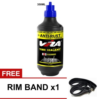 VIZA(R) Premium Tire Tyre Sealant (350ML) with 1 x Rim Band