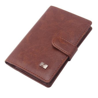 VSS Passport Holder Men Travel Wallet Credit Card HolderPassportcover Russian Covers For Document (Brown) - intl