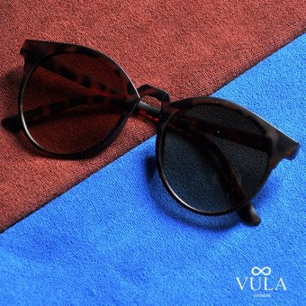 Vula 272 Queen's Round Browline Sunglasses Shades (Brown ) Price Philippines