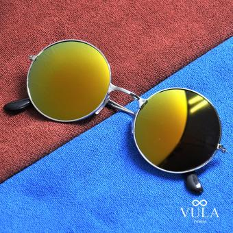Vula 3027 Briley Casual Unisex Round Sunglasses Shades (Multicolor )