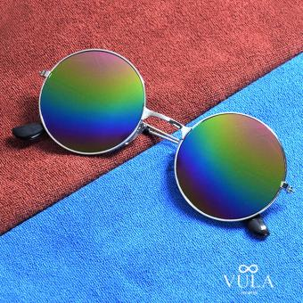 Vula 3027 Briley Casual Unisex Round Sunglasses Shades (Multicolor)