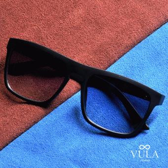 Vula Casual Unisex Sunglasses Shades Eyeglasses 627-24 (Black)