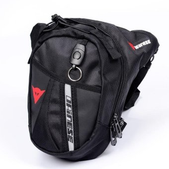 Waist Bag Waterproof Nylon Travel Bag Men Black Drop Leg Bag Motorcycle Fanny Pack Waist Belt Bag - intl