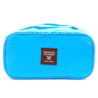 Wanna Be a Traveler Underwear Pouch (Sky Blue)