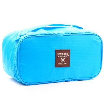 Wanna Be a Traveler Underwear Pouch (Sky Blue) - picture 2