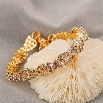 Watches Sunglasses Jewellery Chain Link Bracelets Cadis 24KGoldNoble And Shine Ladies Bracelet - intl - 3