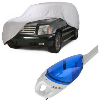Waterproof Lightweight Nylon Car Cover for SUV With Portable CarVacuum Cleaner (Blue)