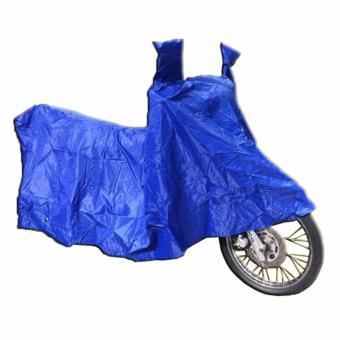 Waterproof Motorcycle Cover with Side Mirror Pocket for 150cc to250cc (Blue) Price Philippines
