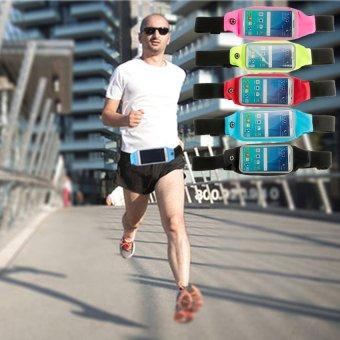 Waterproof Sports Running Waist Belt Pouch for 4.7 up to 5.5 inchesSmart Phone (Black) - 3